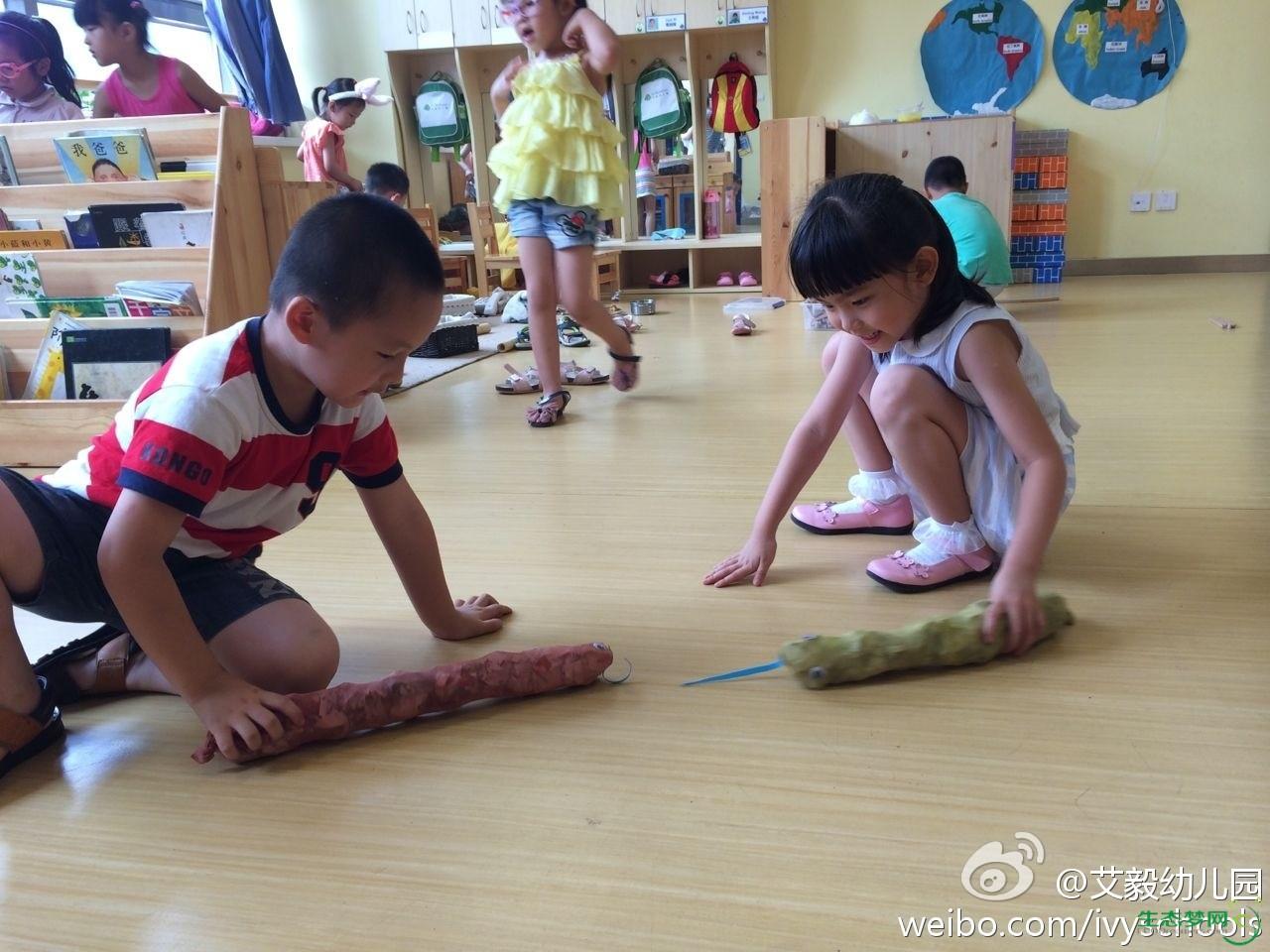 艾毅幼儿园 69 小朋友自己动手制作了可爱的动物玩